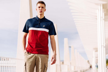 "Polo PGWEAR ""Oldschool"" Navy/Red"