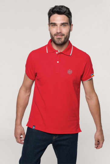 "Polo Patriot ""Stema basic"" rosu"