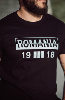 "Tricou Patriot ""Romania Unitate"" negru"