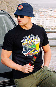"""Tricou PGWEAR """"Live For the Weekend"""" Black"""